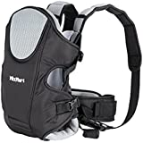 MixMart 3-in-1 Ergonomic Baby Carrier for Men Women with Clever Bib Airflow 3D Mesh (Black/Grey)