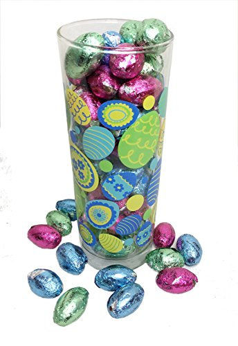 Happy Easter Eggstravaganza ~ Glass Cylinder Vase Filled wit