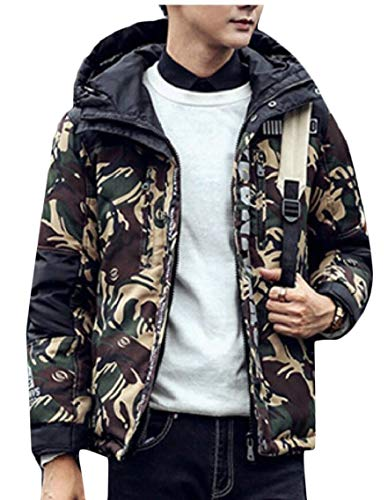Padded Outwear Quilted Hooded Puffer 1 Gocgt Jacket Parkas Camo Men Winter Coat Cxvq0g0w7