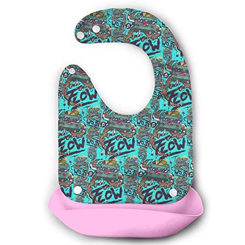 Price comparison product image Crazy Recorder Speakers Baby Bibs Waterproof For Babies And Toddlers Easily Wipes Clean Comfortable Soft