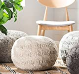 Oslo Round Wool Ottoman Pouf by Christopher Knight Home (IVORY)