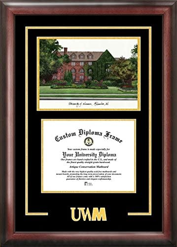 Amazon Com Campus Images Wi994sg University Of Wisconsin Milwaukee Spirit Graduate Diploma Frame 8 X 10 Home Kitchen