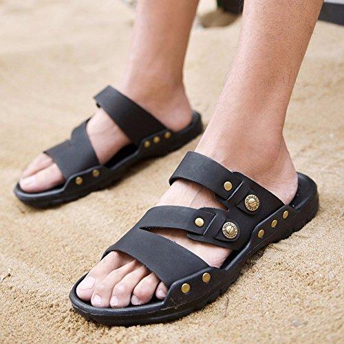 Calzature da mare, scarpe da beach shoes antiscivolo, nero, UK = 9.5, EU = 44