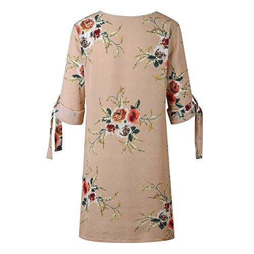 Robe Femme Femme Chic Plage U Robe Kaki Robe lche Col Robe de Bandage Floral Femme Soire Ete Ourlet Femme Weant Robe de imprim d5nIwpqfq