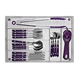 Cutlery Tray by Mindspace, 6 Compartments Utensil Organizer | The Mesh Collection, Silver