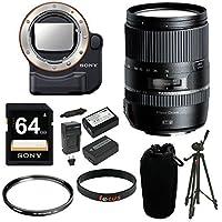 Tamron 16-300mm f/3.5-6.3 Di-II Macro Lens w/Sony LA-EA4 A-Mount to E-Mount FF Lens Adapter with TMT + Sony 64GB Memory Card Bundle