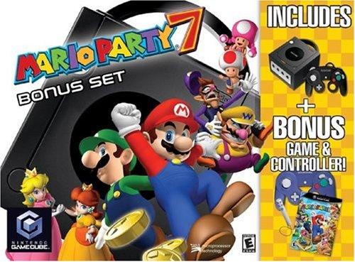Game Cube Mario Party 7 Bundle (Gamecube Arcade Games)