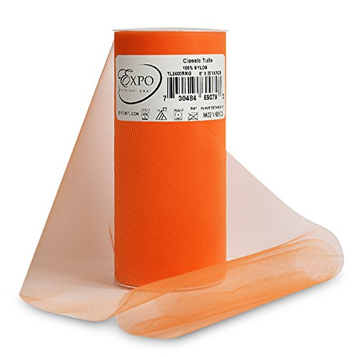 Expo Classic Tulle Spool of 25-Yard, Orange