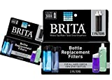 Brita Replacement Bottle Filters, 2 Filters Total (Single Pack)