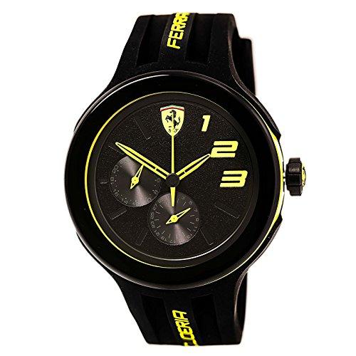Ferrari Men's Scuderia 0830224 Black Silicone Quartz Watch