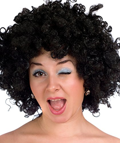 Bliss Pro's Black Afro Wig Halloween Costume Party Wig 70's Retro Disco Curly