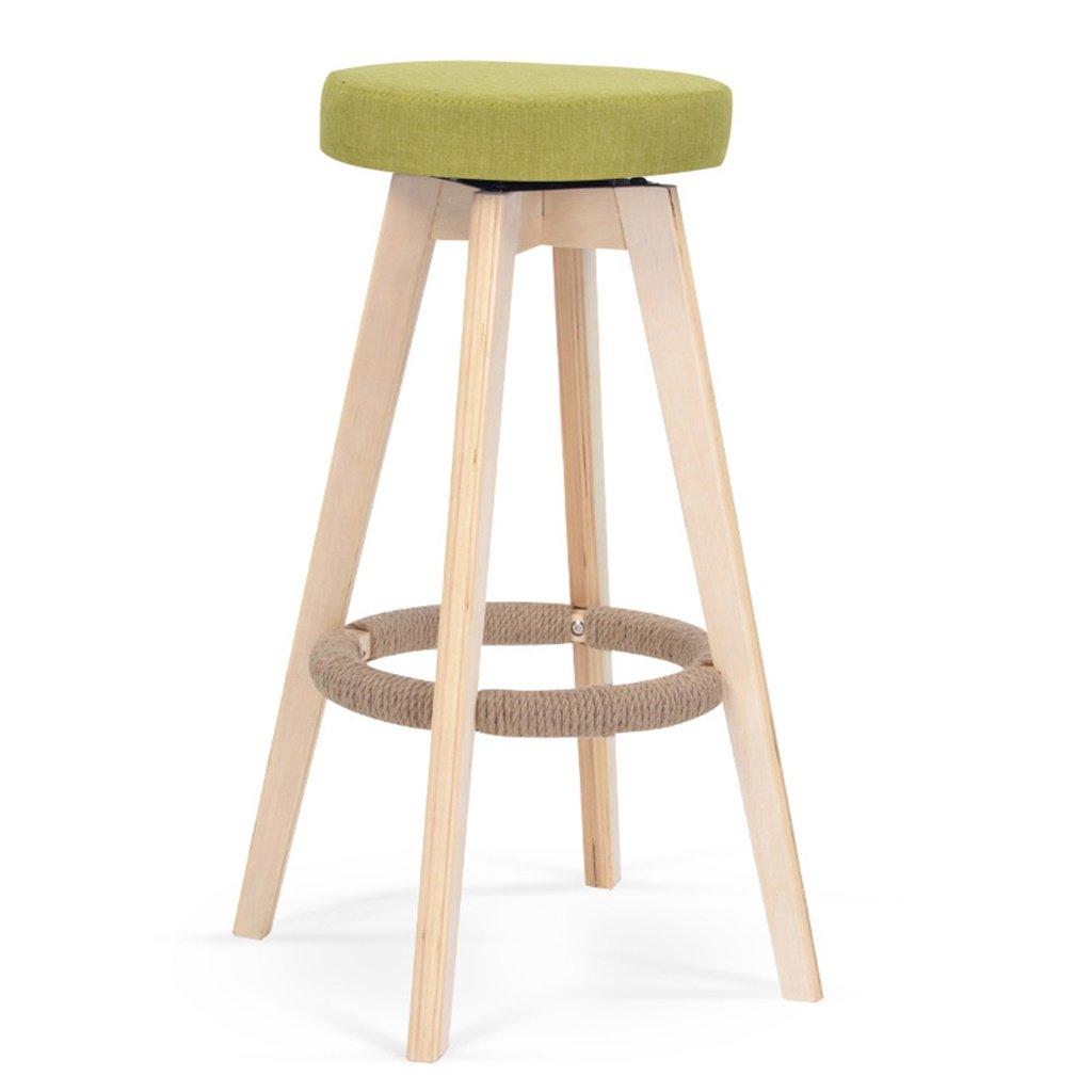 スツールヨーロッパスタイルのバーの椅子ソリッドウッドのバーの椅子背もたれの高いスツールホーム回転バーの椅子ファッションシンプルなバーのスツール (色 : B) B07DB6TGQ8 B B