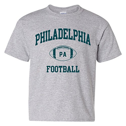 - Philadelphia Classic Football Arch American Football Team Sports Youth T Shirt - Large - Sport Grey