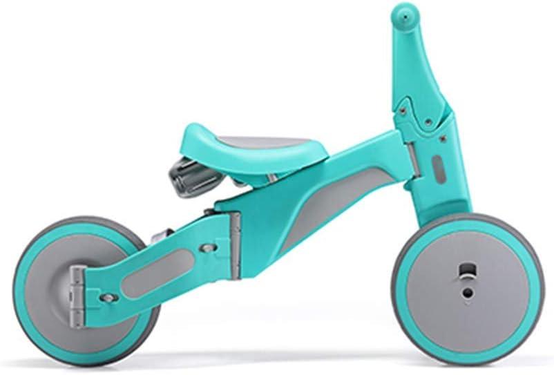 HFJKD Baby Balance Bike Scooters transformables portátiles de Aluminio para niños Triciclo 1-6 años Boy Girl Ride Toys