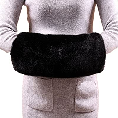Wed2BB Faux Fur Hand Muffs Women Warm Faux Fur Muffs