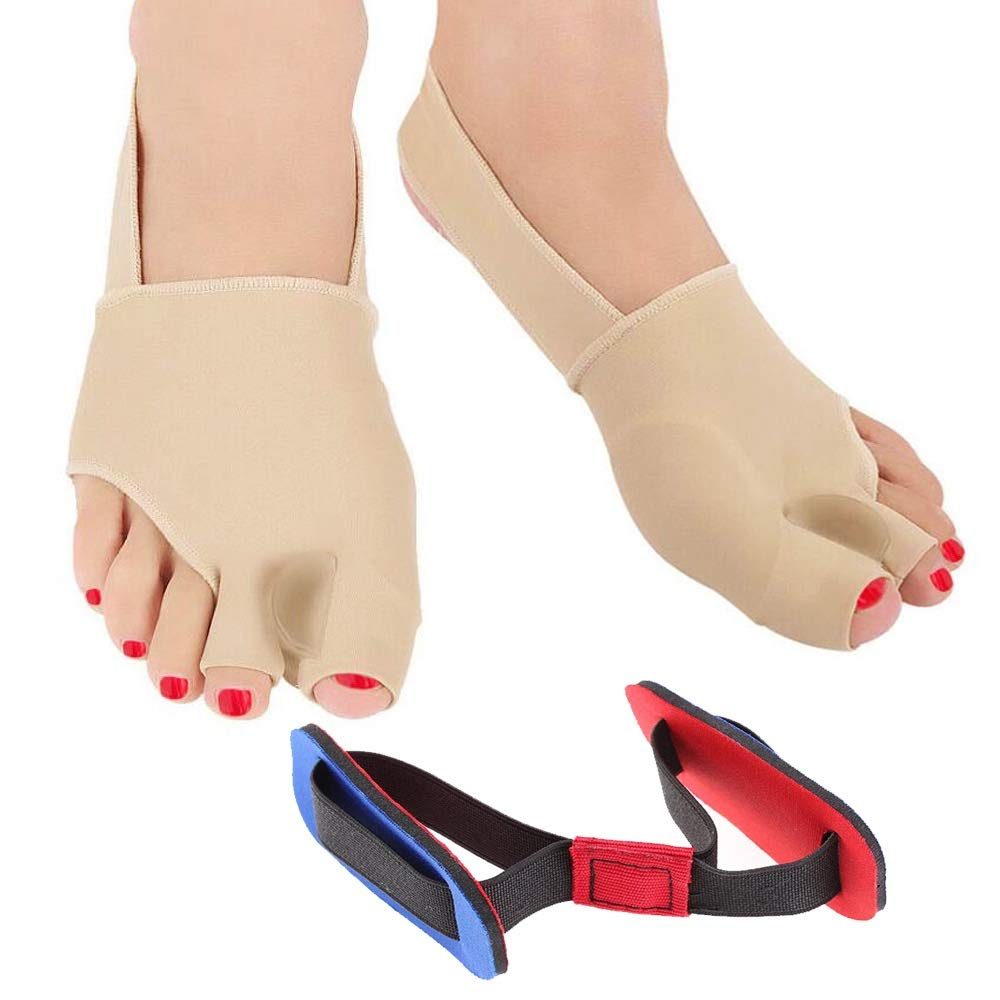 ... Splint for Bunion with Bunion Pads for Bunion Relief - Hallux Valgus Corrector, Big Toe Straightener, Bunion Bootie with Toe Spacers for Bunions: ...