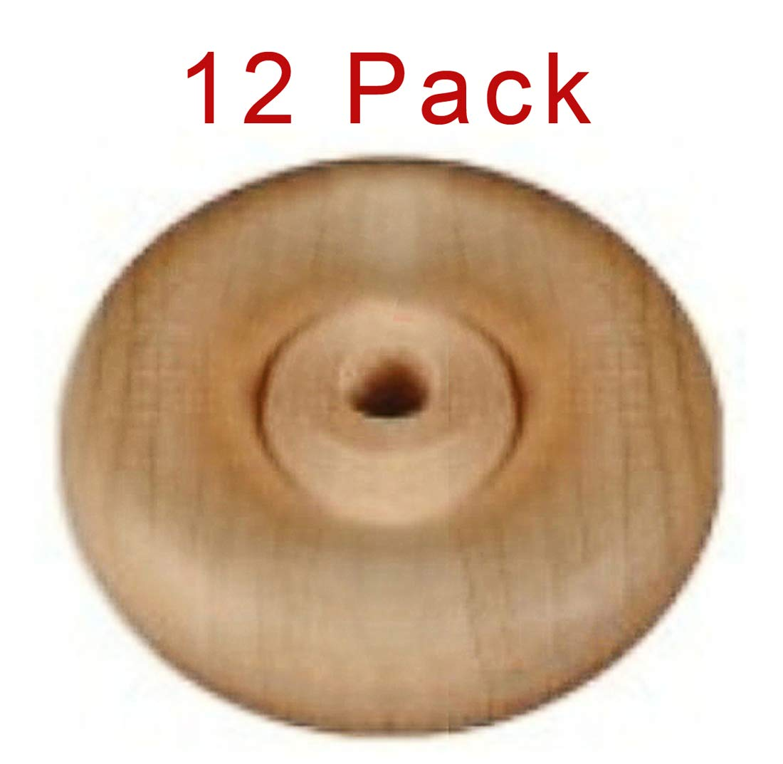 12 Pack 1'' Wood Wheels with Axle Toy Parts Wooden Wheel