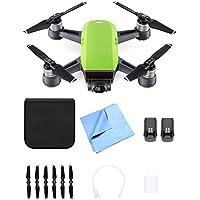 DJI CP.PT.000734 SPARK Intelligent Portable Mini Drone Meadow Green Battery Bundle