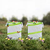 2-PACK Butterfly Habitat, AUSPA Portable Butterfly Terrarium For Grasshopper & Crickets & Firefly Cage 6'' Tall