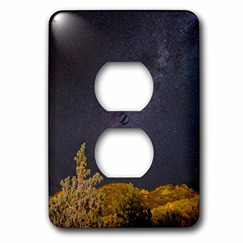 3dRose Danita Delimont - Colorado - Colorado. Milky Way above mountains. - Light Switch Covers - 2 plug outlet cover - Outlets Buena Vista