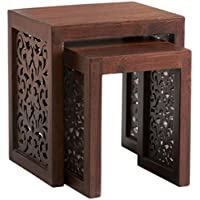 Maharaja Nesting Tables, NESTING TBLS/2, WALNUT