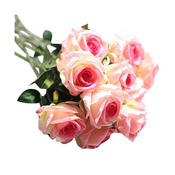 YJYDADA-Artificial-Fake-Roses-Flannel-Flower-Bridal-Bouquet-Wedding-Party-Home-Decor