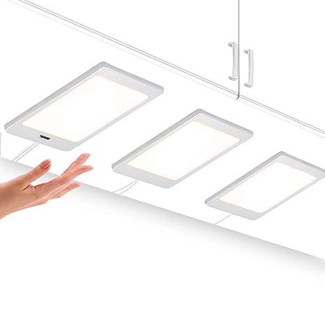 Lampade Pannello per Interne a Sottopensili Armadi da Cucina a LED con  Interruttore Sensore di Mano e Adattatore di Alimentazione Luce Naturale  4000K ...