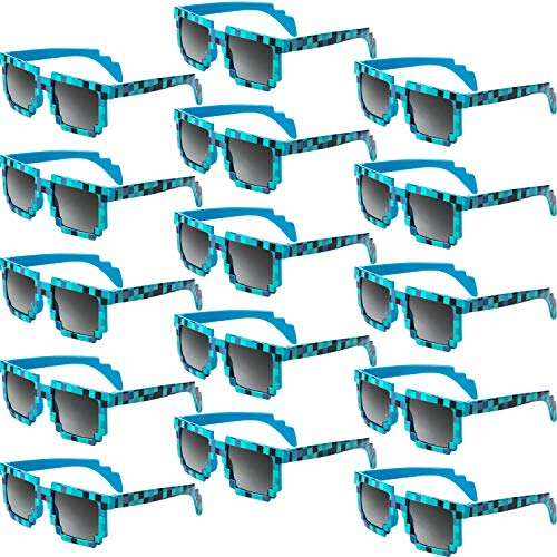 15 Pair Pixel Retro Gamer Robot Sunglasses Pixel Sunglasses Pixelated Sunglasses Birthday Party Favors for Kids and Adults