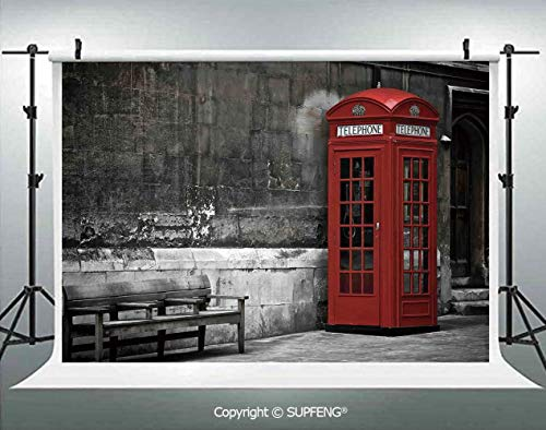 Photography Background Famous British Phone Boot in London