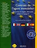 Contrats de l'agent immobilier : Français, anglais, allemand, italien, espagnol