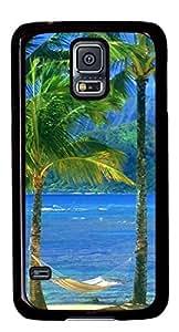 Beach Ocean Mountains DIY Hard Shell Black Best Designed Samsung Galaxy S5 I9600 Case