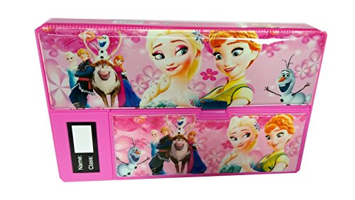 Shree Technesh Frozan Printed Jumbo Gadget Pencil Box (Pink)