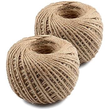 Unglazed USA Quality Nylon Rope Co. #4 x 3000 ft Black Cotton Tie-Line 1//8