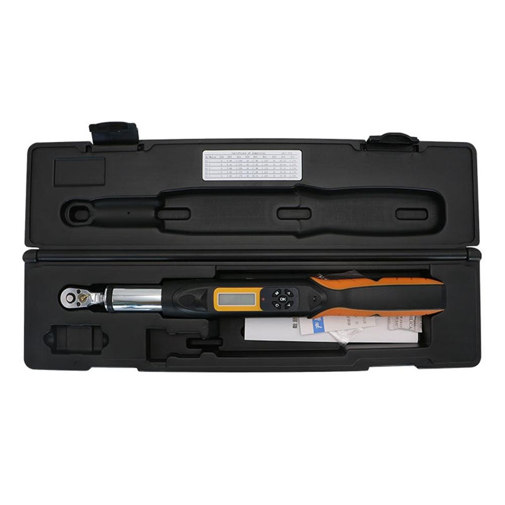 VTSYIQI AWG2-030 Torque Wrench with 1/4-Inch Drive Electronic Torque Wrench with Maximum value 30N.m Buzzer setting 1.5 to 30N.m and 100 records Data Storage 390mm