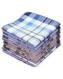 3 Styles of COCOUSM Mens Classic Striped Cotton Handkerchiefs -38cm