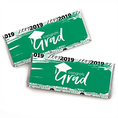 Green Grad - Best is Yet to Come - Candy Bar Wrapper Green 2019 Graduation Party Favors - Set of 24