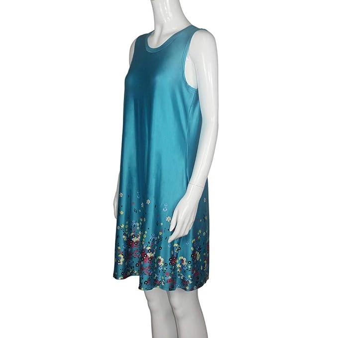 ... Floral Impreso Pijama De Verano Boho SeparacióN MáS TamañO 5XL 6XL Vestidos De La Camiseta con Bolsillos Mini Vestido: Amazon.es: Ropa y accesorios