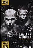 "UFC 201 Lawler vs. Woodley Autographed 27"" x 39"" 22-Signature Event Poster - Fanatics Authentic Certified review"