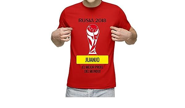Camiseta Personalizada con Nombre Rusia 2018 para animar a la Selección (Rojo): Amazon.es: Ropa y accesorios