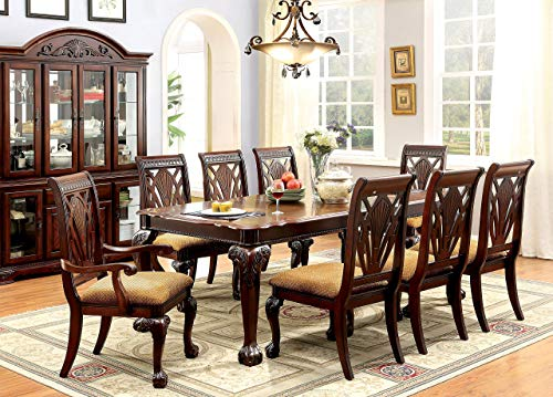 247SHOPATHOME IDF-3185T-9PC Dining-Room-Sets, 9-Piece