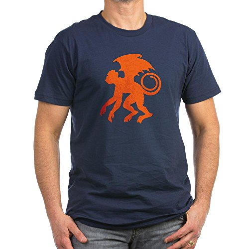 [CafePress - Flying Monkey T-Shirt - Men's Fitted T-Shirt, Stylish Printed Vintage Fit T-Shirt] (Scary Scarecrow)