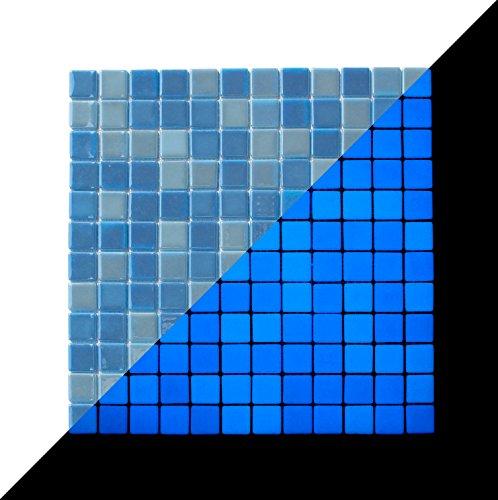 illumino Opus One Ocean Blue Glow-in-The-Dark Glass Tile / 1 Sheet 12.3