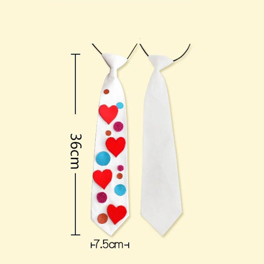LUOEM - Corbata de cuello en blanco para pintar a los niños ...