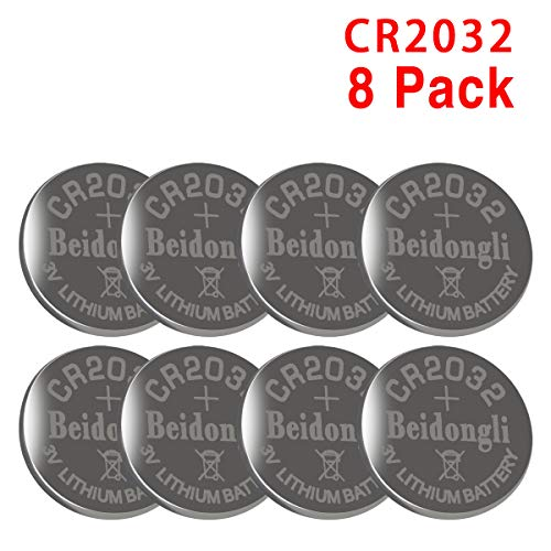 8 Pack Beidongli CR2032 Battery 3V Lithium Battery Coin Button Cell (CR2032-8PACK)