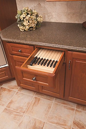 Century Components KB12PF Wood Knife Block Tray Drawer Organizer, 12'' x 22'' Trimmable by Century Components (Image #1)