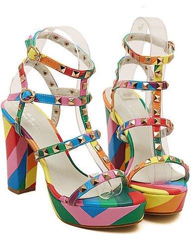 ShangYi Women's Shoes Chunky Heel Open Toe Sandals Dress More Colors available Black jKLbPT34H