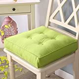 hxxxy Thick soft square cushion,Removable Tatami mats Floor mat Window mat Back cushion Chair cushion Removable Room Yoga Office Car-green 40x40cm(16x16inch)