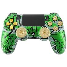"""""""Green Predator"""" PS4 Custom Modded Controller w/ 9mm Bullet Buttons & Shotgun Thumbsticks"""
