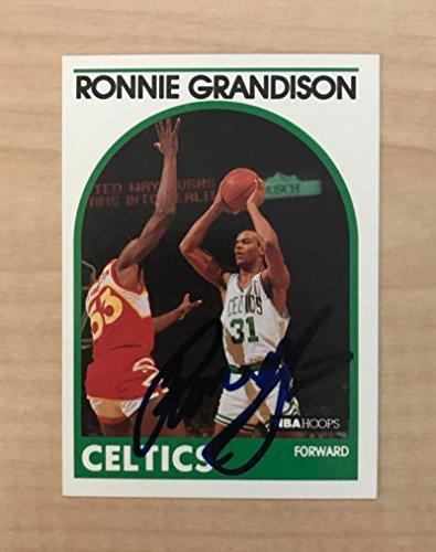 RONNIE GRANDISON BOSON CELTICS SIGNED AUTOGRAPHED 1989 NBA HOOPS CARD #248 W/COA