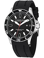 Stuhrling Original Aquadiver Regatta Mens Black Watch - Quartz Analog Swim Sports Watch - Black Dial Date Display...